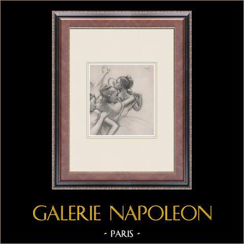 Ballet - Bailarinas - Groupe de Danseuses (Edgas Degas) | Heliograbado original según Edgar Degas. 1933