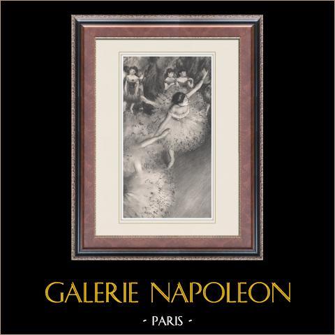 Ballet - Bailarinas - Danseuse Verte (Edgas Degas) | Heliograbado original según Edgar Degas. 1933