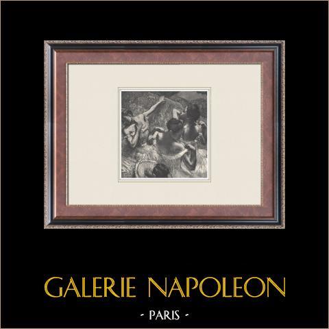Ballet - Bailarinas - Dans les Coulisses (Edgas Degas) | Heliograbado original según Edgar Degas. 1933