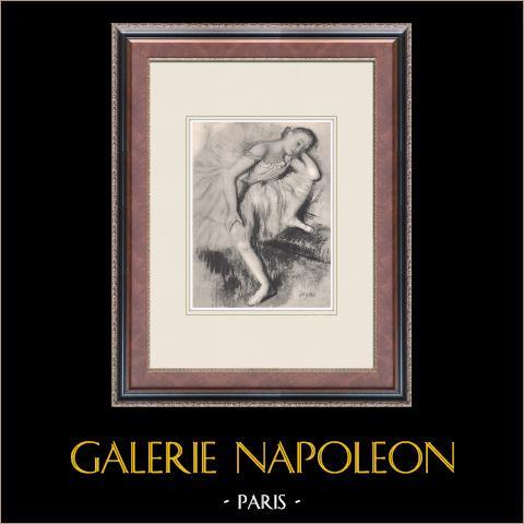 Ballet - Bailarinas - Danseuse au Repos (Edgas Degas) | Heliograbado original según Edgar Degas. 1933