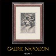Balletto - Danzatrici - Ballerina - Les Trois Danseuses Jaunes (Edgas Degas)