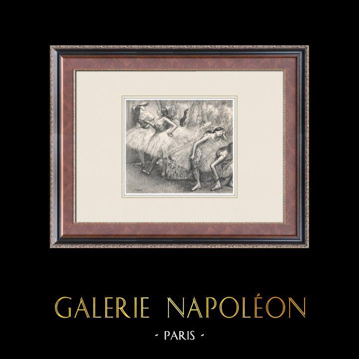 Gravures Anciennes & Dessins | Ballet - Danseuses - Danseuses Roses (Edgas Degas) | Héliogravure | 1933