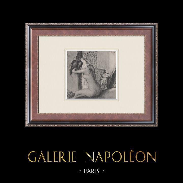 Gravures Anciennes & Dessins | Nu Féminin - Après le Bain (Edgar Degas) | Héliogravure | 1933