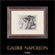 Weiblicher Akt - Femme se Coiffant (Edgar Degas)