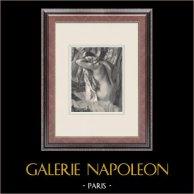 Weiblicher Akt - La Sortie du Bain (Edgar Degas)