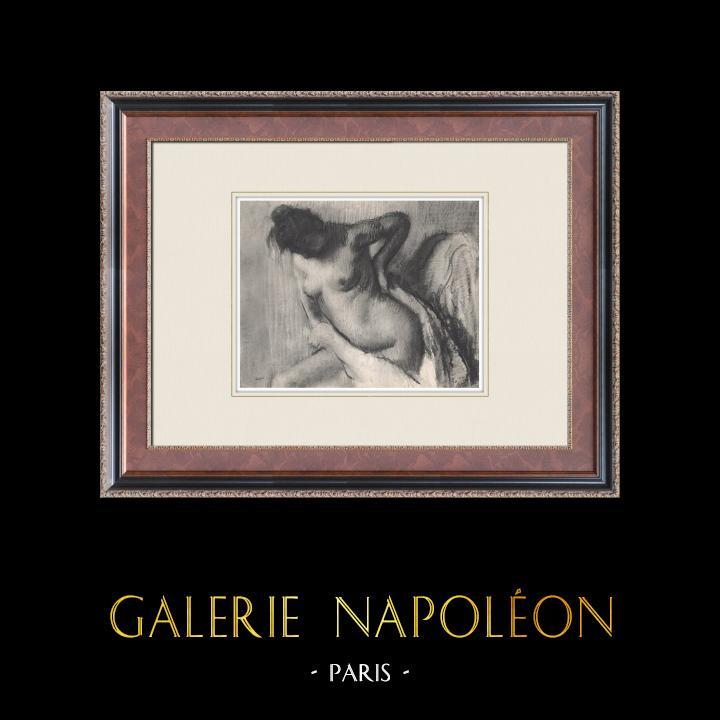 Gravures Anciennes & Dessins | Nu Féminin - Femme Nue (Edgar Degas) | Héliogravure | 1933