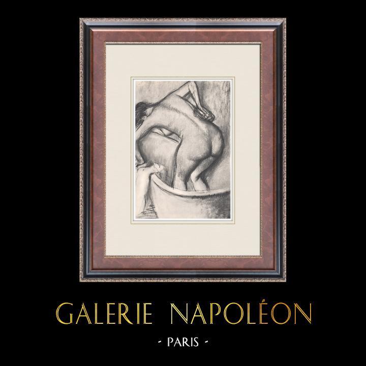 Grabados & Dibujos Antiguos   Desnudo Femenino - Le Bain (Edgar Degas)   Heliograbado   1933