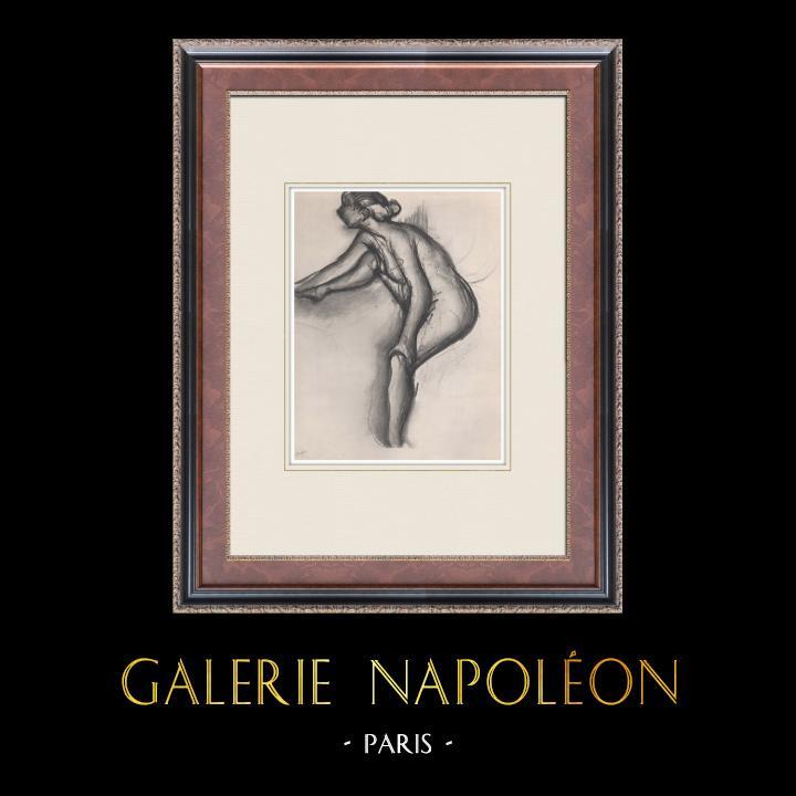 Gravures Anciennes & Dessins | Nu Féminin - Etude de Nu (Edgar Degas) | Héliogravure | 1933