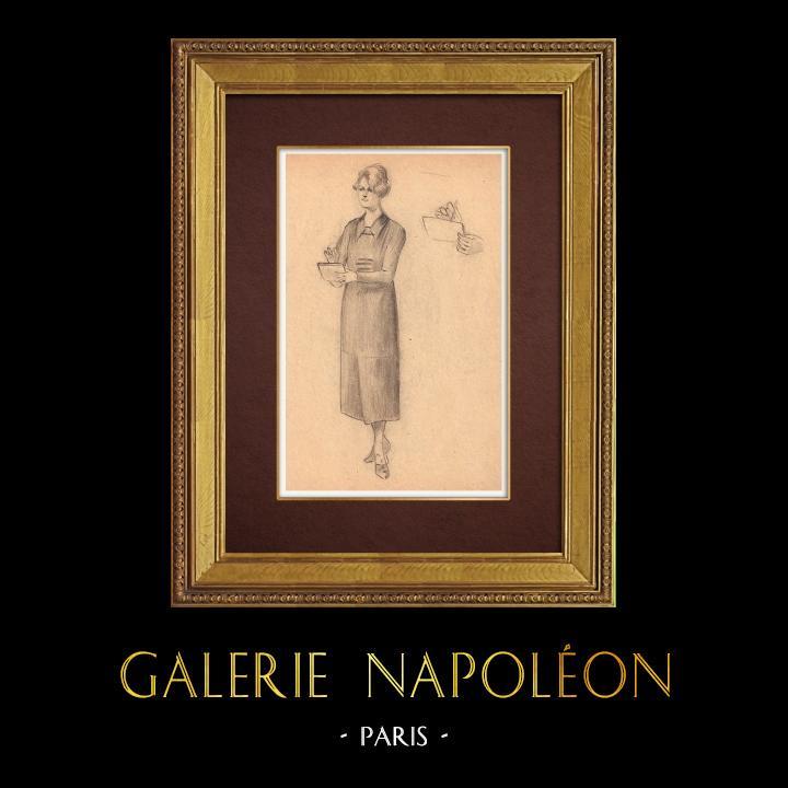 Gravures Anciennes & Dessins | Dessin de Mode - France - Années Folles 1/37 | Dessin | 1930