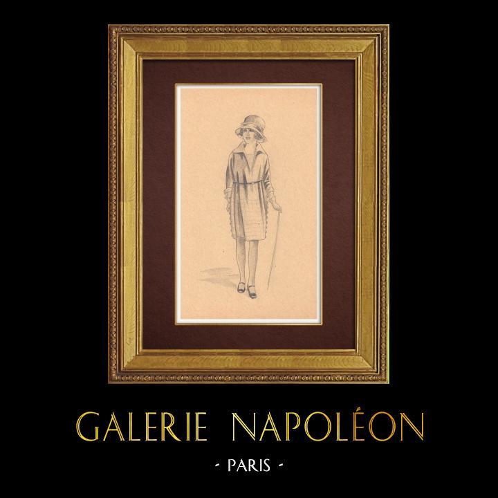 Gravures Anciennes & Dessins | Dessin de Mode - France - Années Folles 2/37 | Dessin | 1930