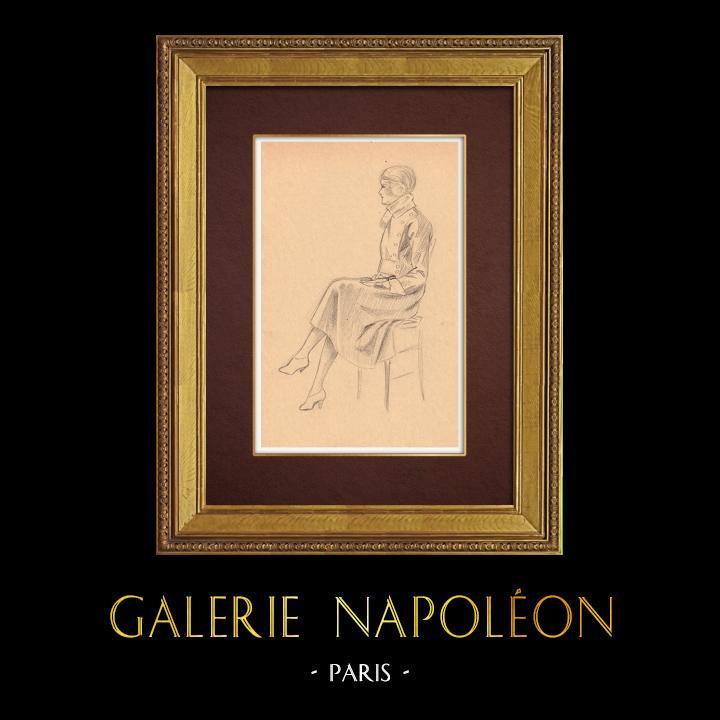 Gravures Anciennes & Dessins | Dessin de Mode - France - Années Folles 3/37 | Dessin | 1930