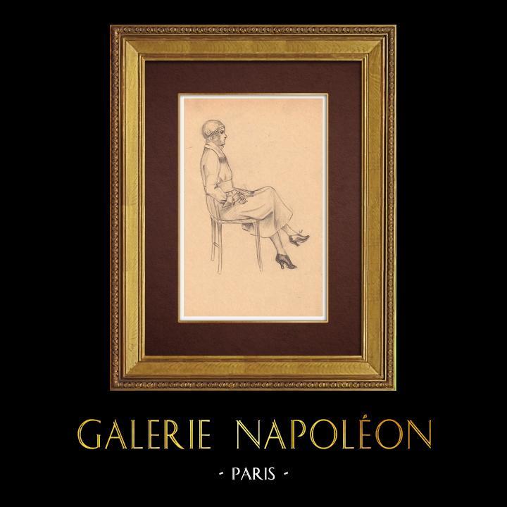 Gravures Anciennes & Dessins | Dessin de Mode - France - Années Folles 4/37 | Dessin | 1930