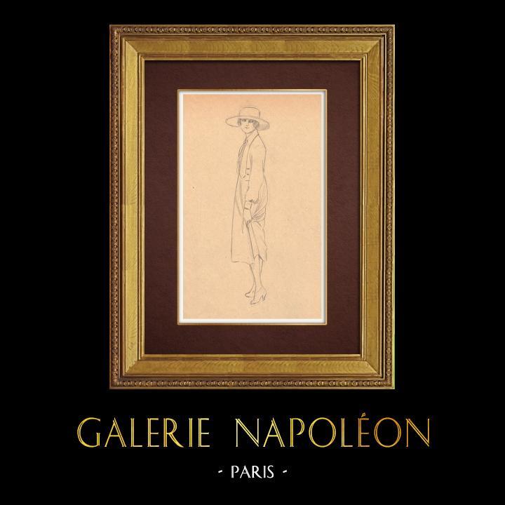 Gravures Anciennes & Dessins   Dessin de Mode - France - Années Folles 9/37   Dessin   1930