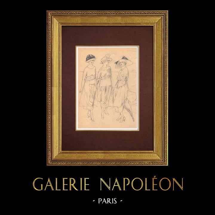Gravures Anciennes & Dessins   Dessin de Mode - France - Années Folles 17/37   Dessin   1930