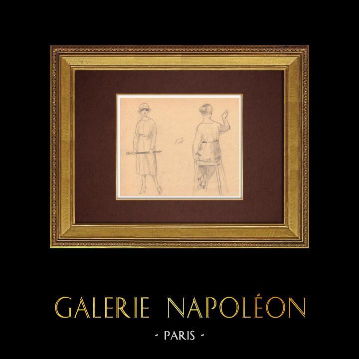 Gravures Anciennes & Dessins | Dessin de Mode - France - Années Folles 18/37 | Dessin | 1930