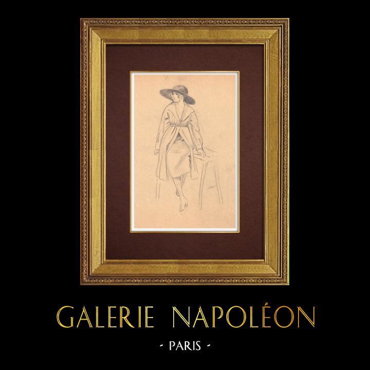 Gravures Anciennes & Dessins | Dessin de Mode - France - Années Folles 32/37 | Dessin | 1930