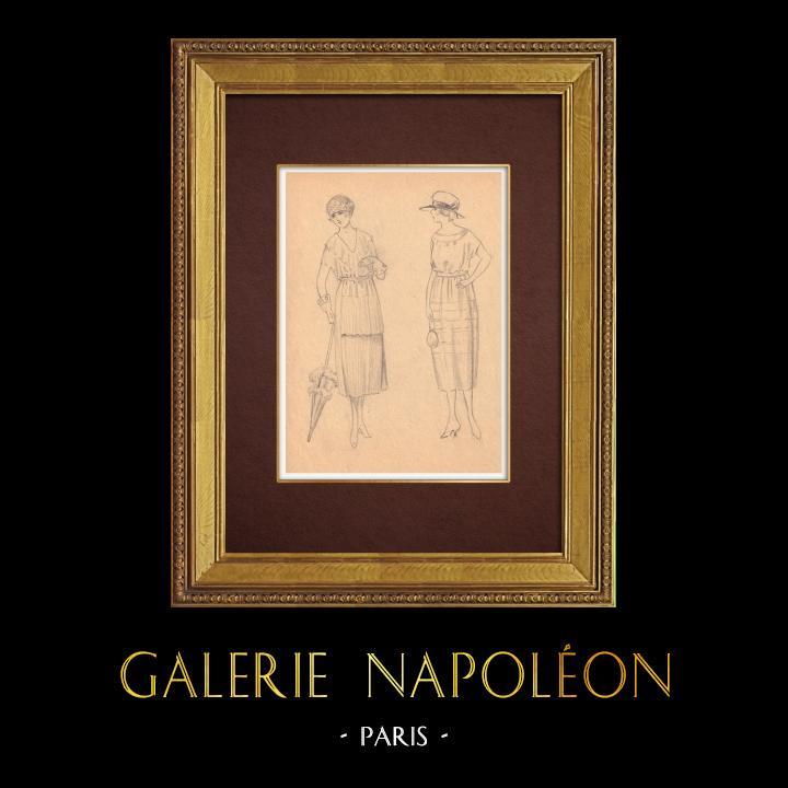 Gravures Anciennes & Dessins | Dessin de Mode - France - Années Folles 33/37 | Dessin | 1930