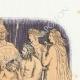 DÉTAILS 03   Fables de La Fontaine - Les Dieux Voulant Instruire un Fils de Jupiter