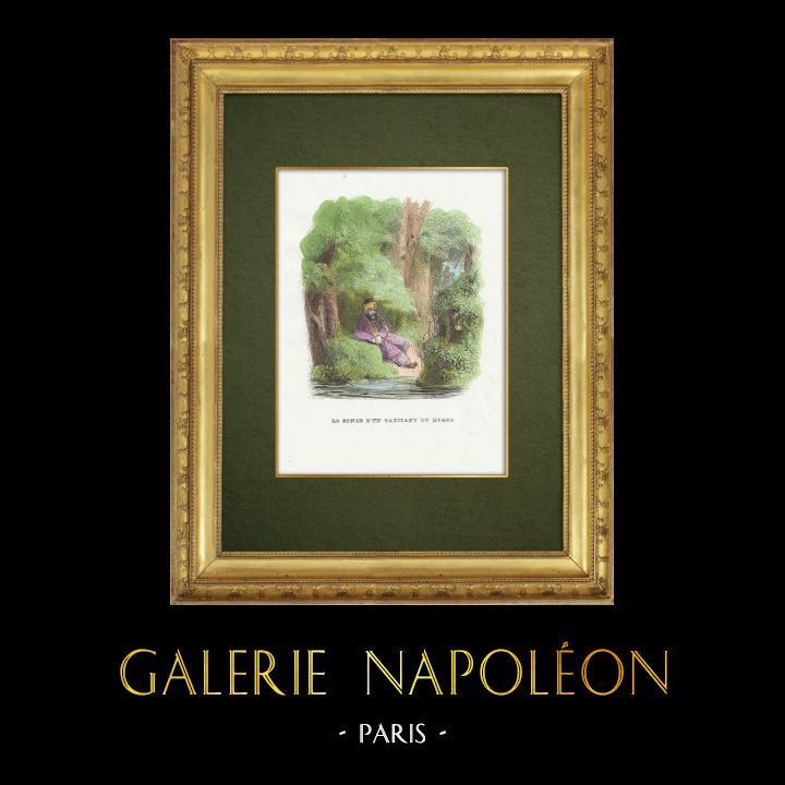 Gravures Anciennes & Dessins | Fables de La Fontaine - Le Songe d'un Habitant du Mogol | Gravure sur bois | 1859