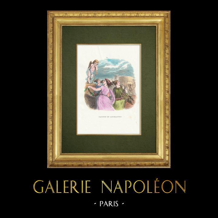 Gravures Anciennes & Dessins | Fables de La Fontaine - Daphnis et Alcimadure | Gravure sur bois | 1859
