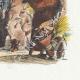 DÉTAILS 04   Fables de La Fontaine - Le Lion s'en Allant en Guerre