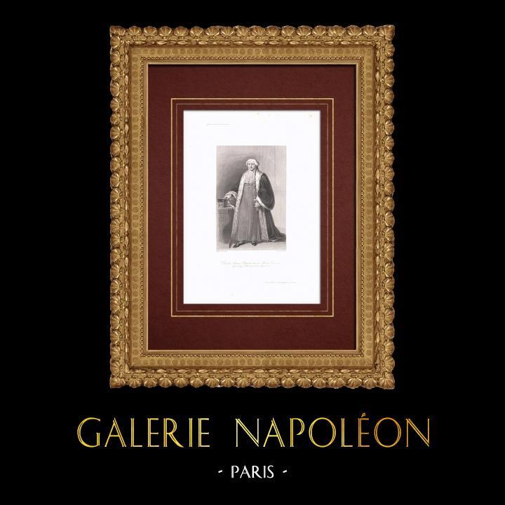 Grabados & Dibujos Antiguos | Retrato de Claude Ambroise Régnier (1746-1814) | Grabado en talla dulce | 1838