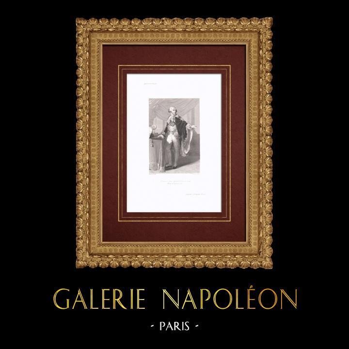 Gravures Anciennes & Dessins | Portrait de Jean-Girard Lacuée (1752-1841) | Taille-douce | 1838