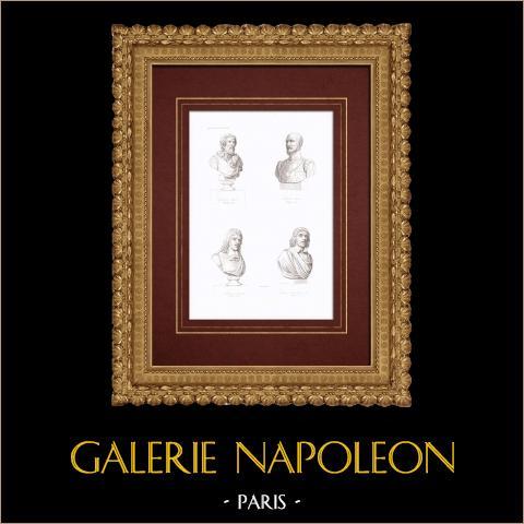 Popiersia - Jean Goujon (1510-1567) - Pierre Lescot (1515-1578) - Eustache le Sueur (1617-1655) - Claude Lorrain - Claude Gellée (1600-1682) |