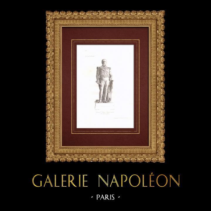 Gravures Anciennes & Dessins   Statue de Étienne Maurice Gérard - Maréchal de France (1773-1852)   Taille-douce   1838