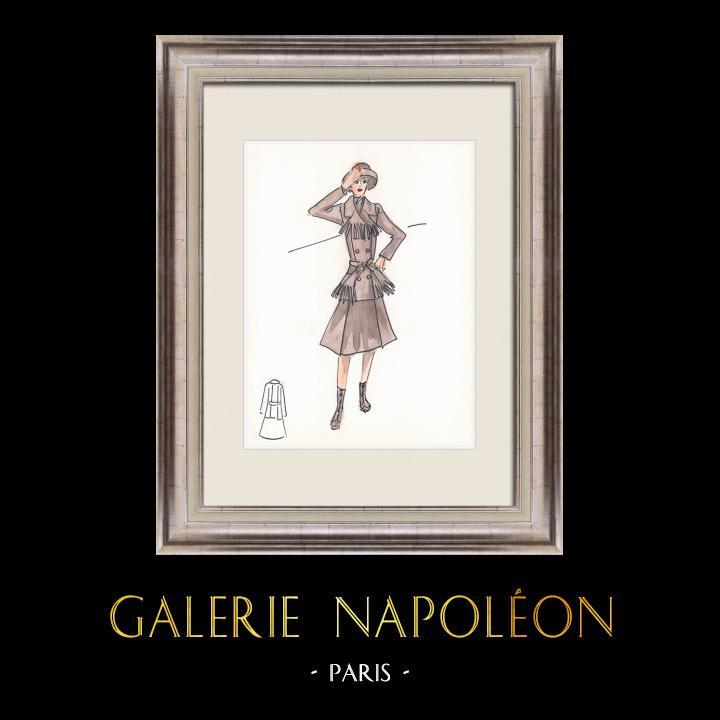 Gravures Anciennes & Dessins | Dessin de Mode - France - Paris - Années 1950/1960 1/47 | Dessin | 1960