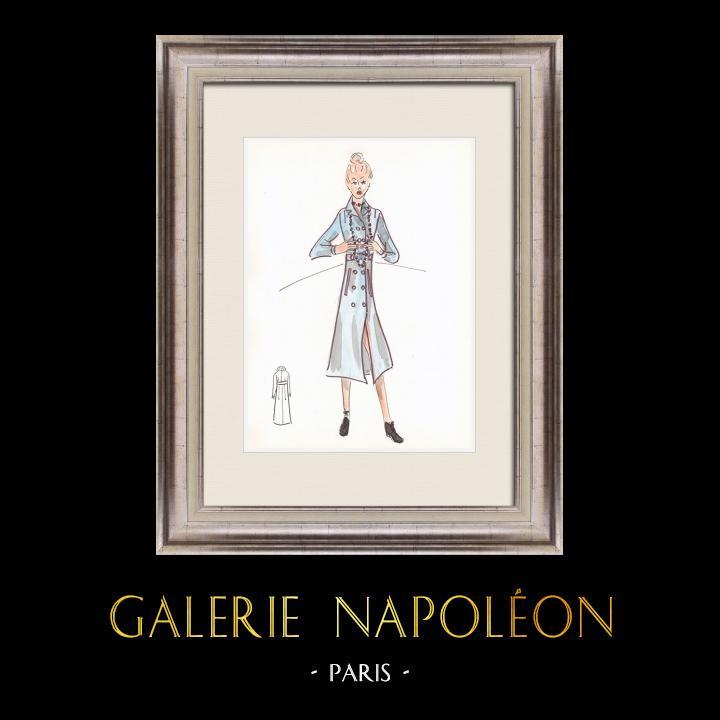 Gravures Anciennes & Dessins   Dessin de Mode - France - Paris - Années 1950/1960 2/47   Dessin   1960