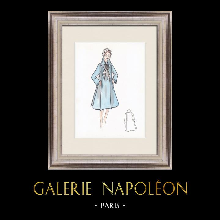 Gravures Anciennes & Dessins | Dessin de Mode - France - Paris - Années 1950/1960 5/47 | Dessin | 1960