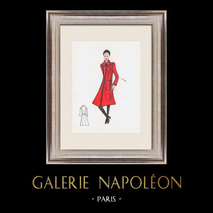 Gravures Anciennes & Dessins   Dessin de Mode - France - Paris - Années 1950/1960 11/47   Dessin   1960