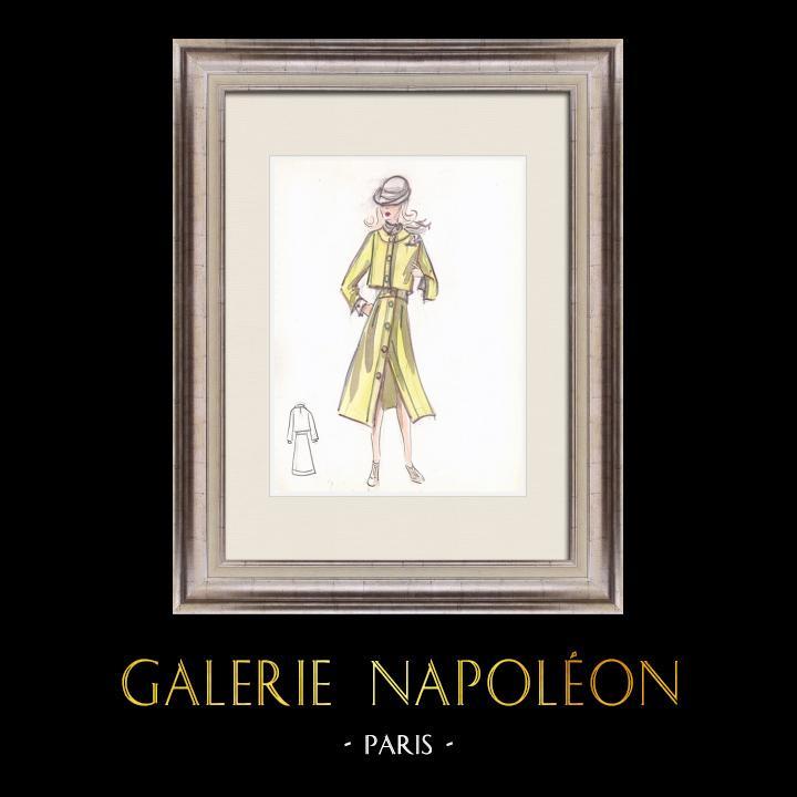 Gravures Anciennes & Dessins   Dessin de Mode - France - Paris - Années 1950/1960 12/47   Dessin   1960