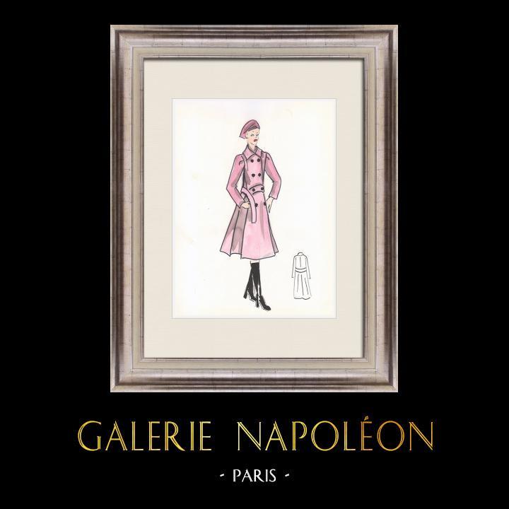 Gravures Anciennes & Dessins | Dessin de Mode - France - Paris - Années 1950/1960 14/47 | Dessin | 1960