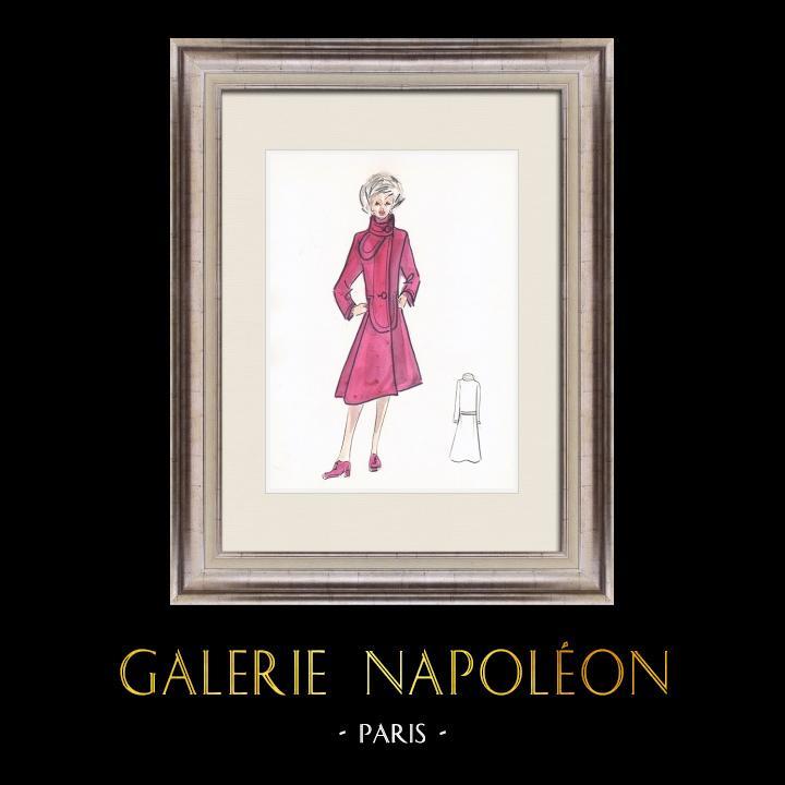 Gravures Anciennes & Dessins   Dessin de Mode - France - Paris - Années 1950/1960 18/47   Dessin   1960