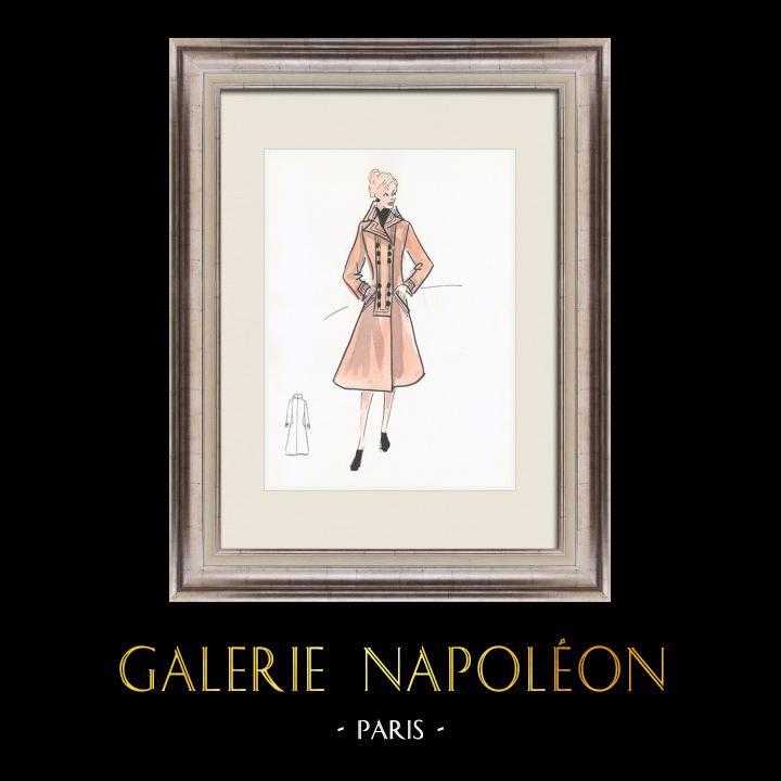 Gravures Anciennes & Dessins   Dessin de Mode - France - Paris - Années 1950/1960 19/47   Dessin   1960