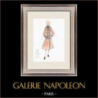Mode Ritning - Frankrike - Paris - 1950/1960-Talet 19/47