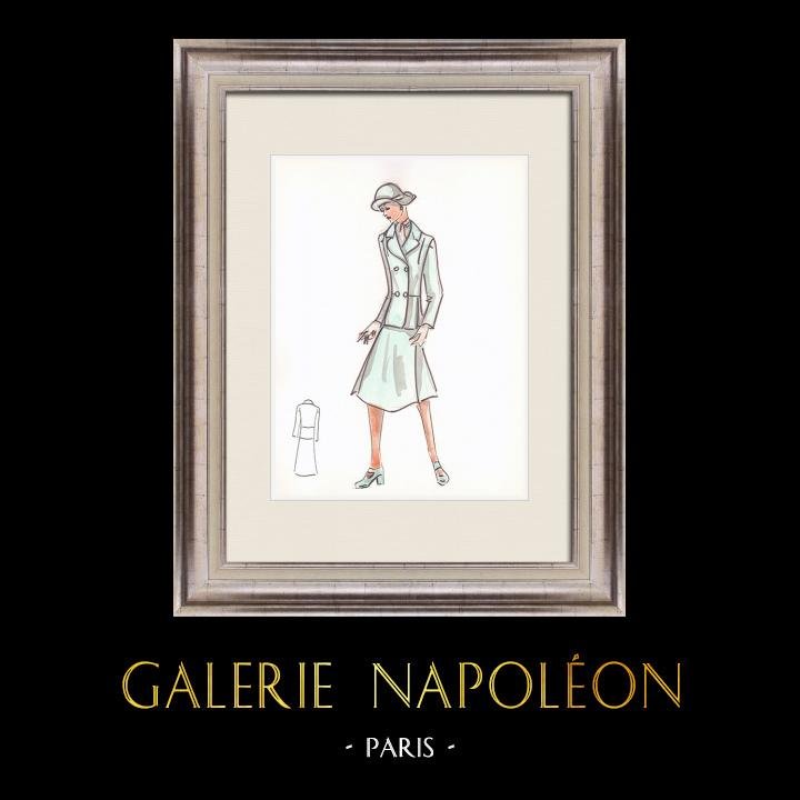 Gravures Anciennes & Dessins | Dessin de Mode - France - Paris - Années 1950/1960 20/47 | Dessin | 1960