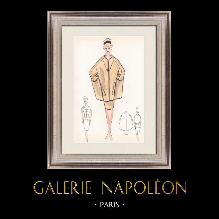 Gravures Anciennes & Dessins | Dessin de Mode - France - Paris - Années 1950/1960 22/47 | Dessin | 1960