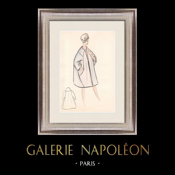 Gravures Anciennes & Dessins | Dessin de Mode - France - Paris - Années 1950/1960 31/47 | Dessin | 1960