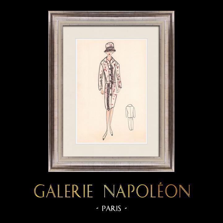 Gravures Anciennes & Dessins | Dessin de Mode - France - Paris - Années 1950/1960 32/47 | Dessin | 1960