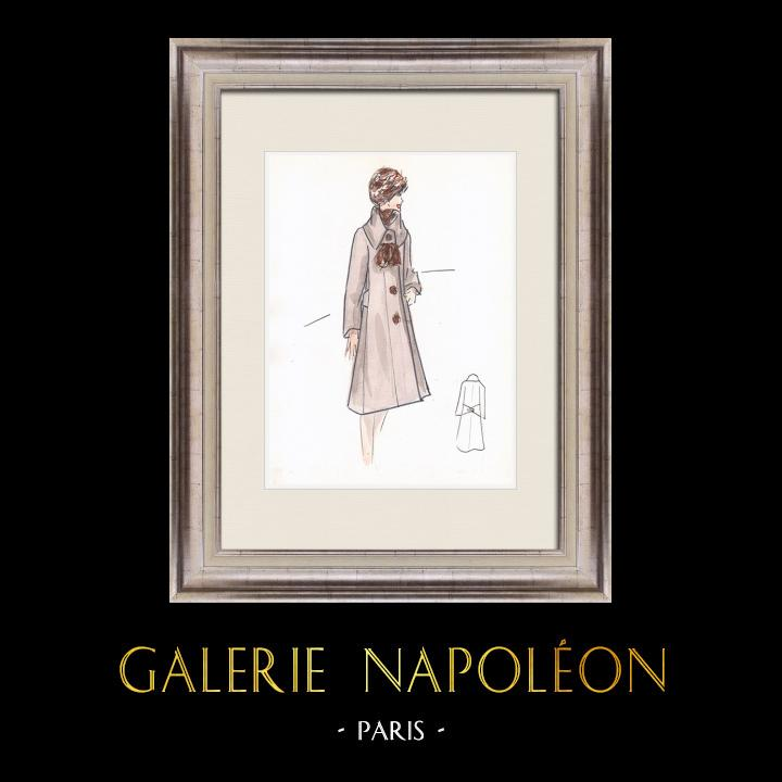 Gravures Anciennes & Dessins   Dessin de Mode - France - Paris - Années 1950/1960 39/47   Dessin   1960