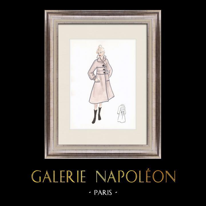 Gravures Anciennes & Dessins | Dessin de Mode - France - Paris - Années 1950/1960 40/47 | Dessin | 1960