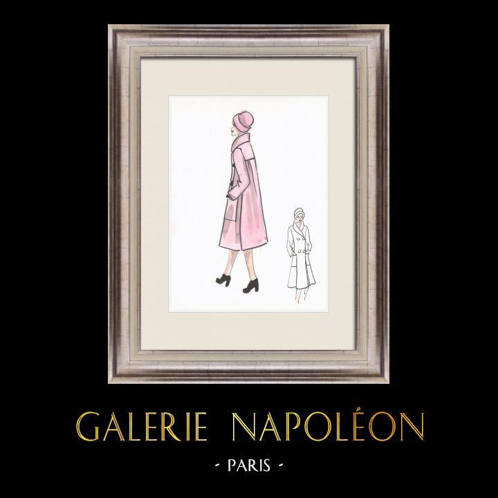 Gravures Anciennes & Dessins | Dessin de Mode - France - Paris - Années 1950/1960 41/47 | Dessin | 1960