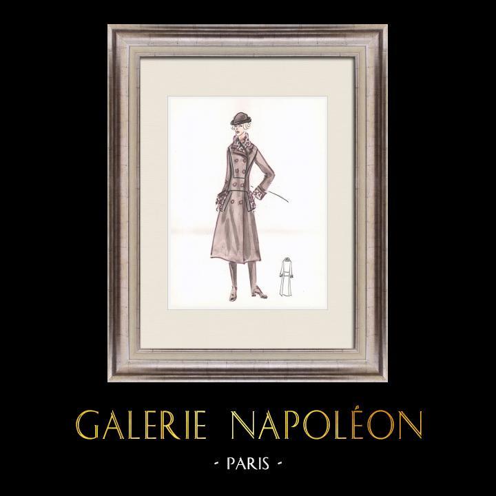 Gravures Anciennes & Dessins   Dessin de Mode - France - Paris - Années 1950/1960 43/47   Dessin   1960