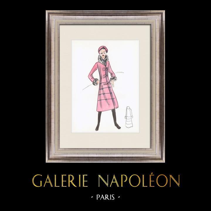 Gravures Anciennes & Dessins | Dessin de Mode - France - Paris - Années 1950/1960 44/47 | Dessin | 1960