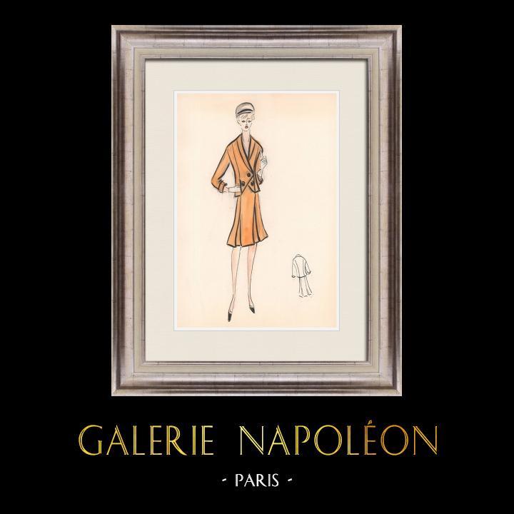 Gravures Anciennes & Dessins   Dessin de Mode - France - Paris - Années 1950/1960 47/47   Dessin   1960