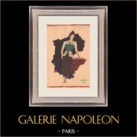 Mode Ritning - Frankrike - Paris - 1950-Talet