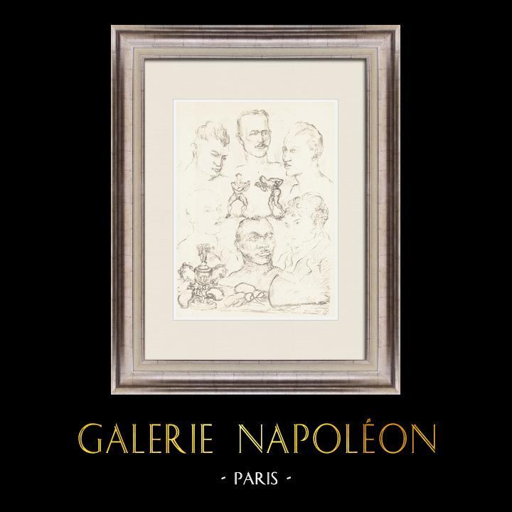 Gravures Anciennes & Dessins | Sport - Boxe 65/71 | Lithographie | 1928